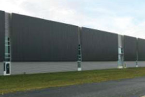commercial metal building with insulated metal wall panels